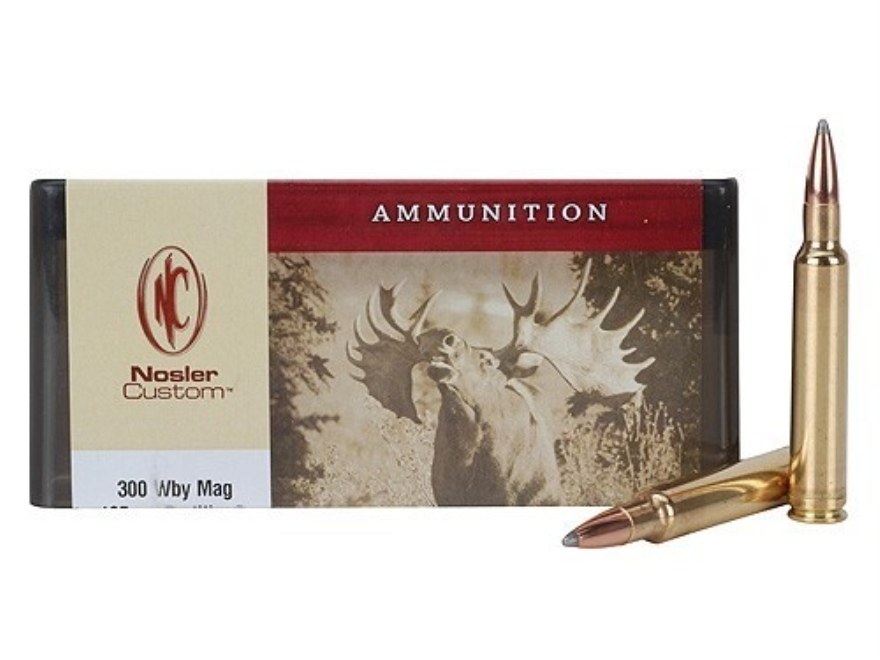 Nosler Custom Ammunition 300 Weatherby Magnum 165 Grain Partition Spitzer Box of 20
