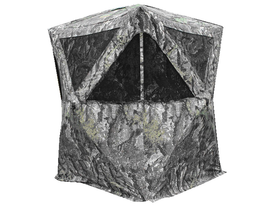 "Primos The Club XXL Ground Blind 58"" x 58"" x 77"" Polyester Ground Swat Gray Camo"