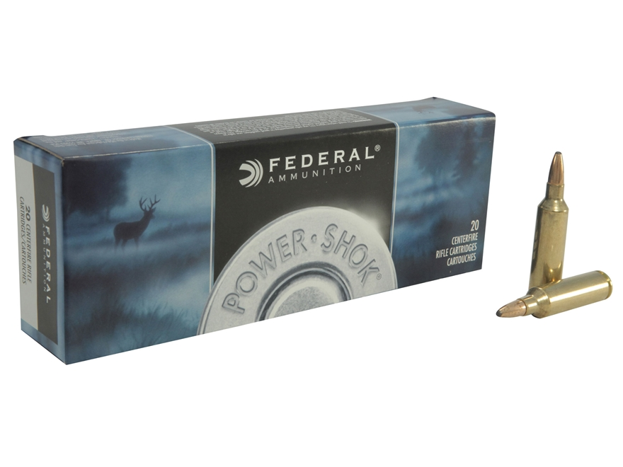 Federal Power-Shok Ammunition 270 Winchester Short Magnum (WSM) 130 Grain Soft Point Box of 20