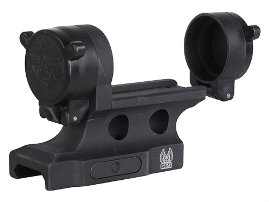 GG&G Bolt On Aimpoint Micro Aimpoint Micro T-1, T-2, H-1 Sight Mount with Integral Flip-Up Lens Covers Picatinny-Style Matte