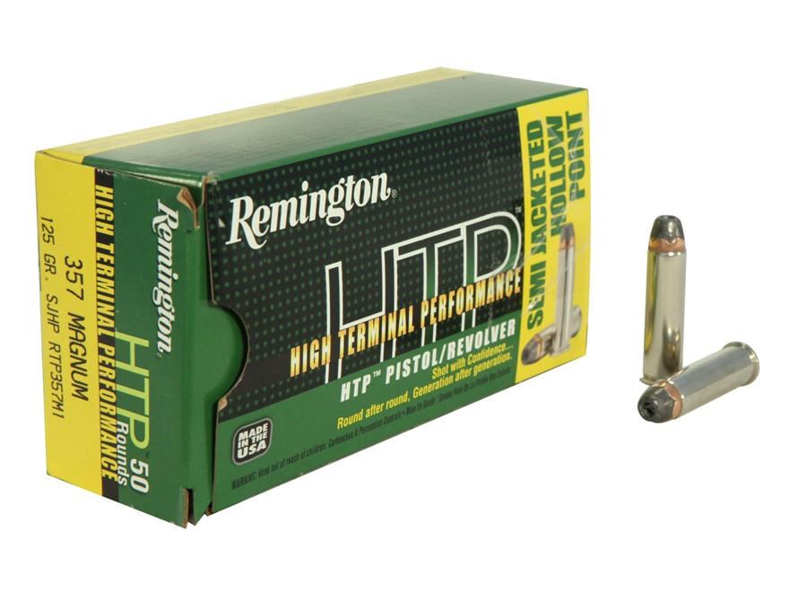 Remington High Terminal Performance Ammunition 357 Magnum 125 Grain Semi-Jacketed Hollow Point Box of 50