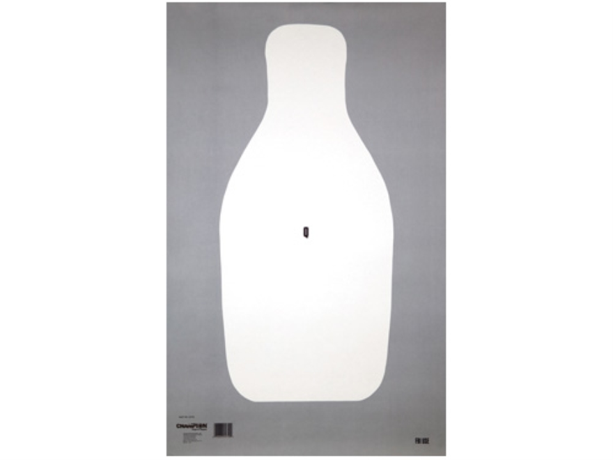"Champion LE FBI Q Targets 20"" x 32"" Paper Pack of 100"