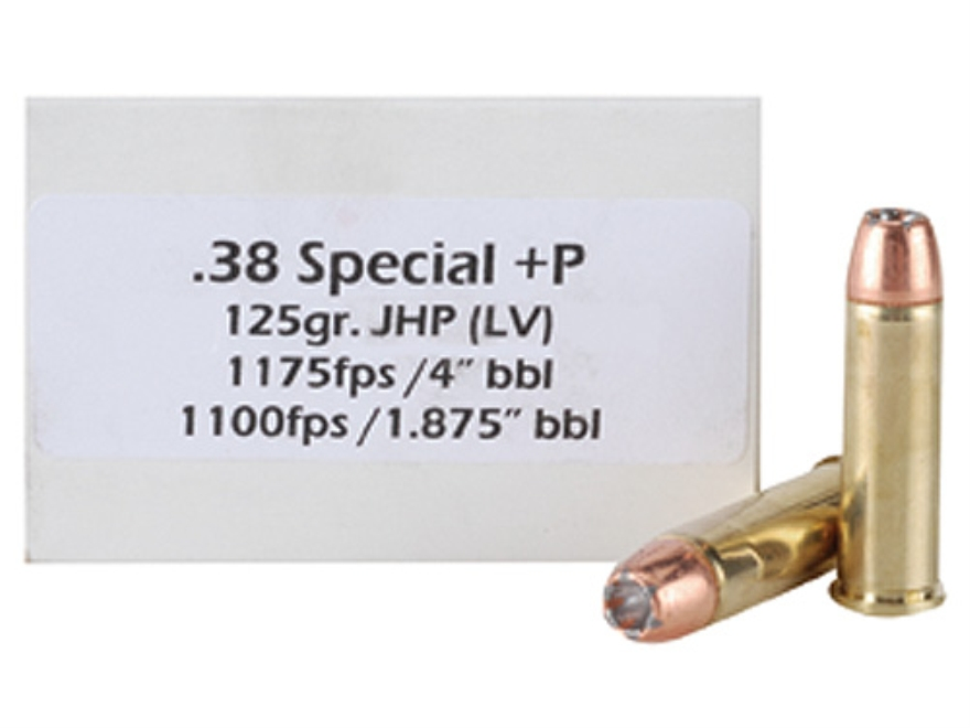 Doubletap Ammunition 38 Special +P 125 Grain Bonded Defense Jacketed Hollow Point Box of 50