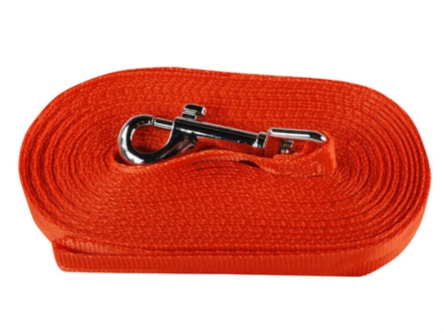 "Remington Check Cord Lunge Leash 3/4"" x 25' Nylon Blaze Orange"