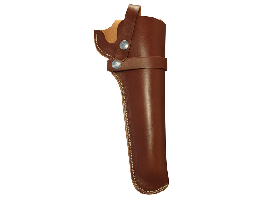 Hunter 1100 Snap-Off Belt Holster Right Hand Freedom Arms 353, 455, Ruger Blackhawk, Super Blackhawk, Redhawk Leather Brown