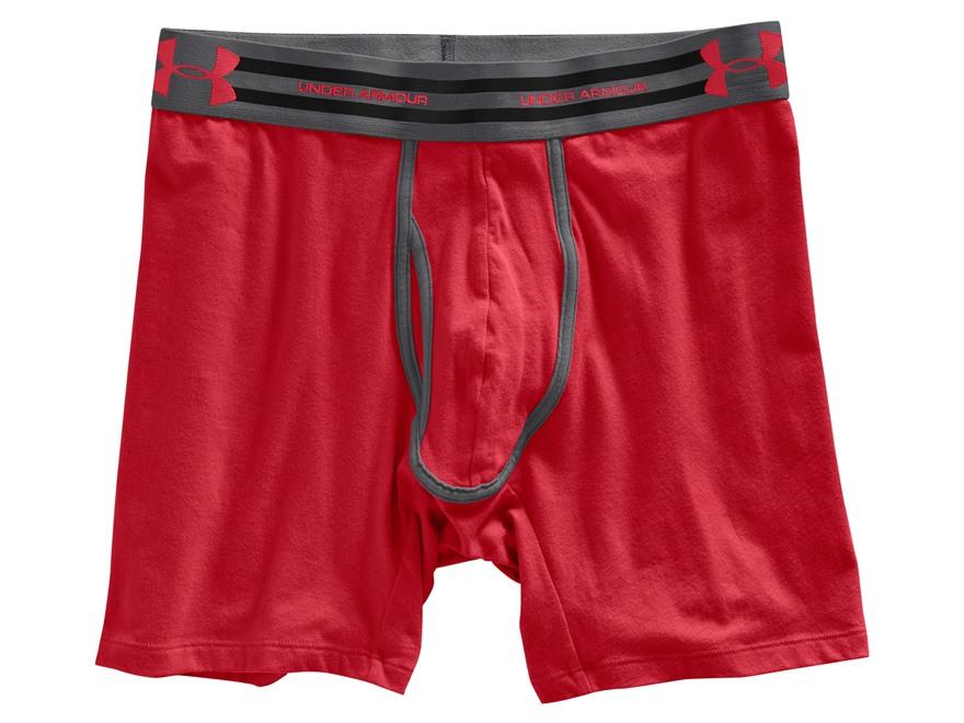 """Under Armour Men's 6"""" Charged Cotton Boxerjock Underwear"""