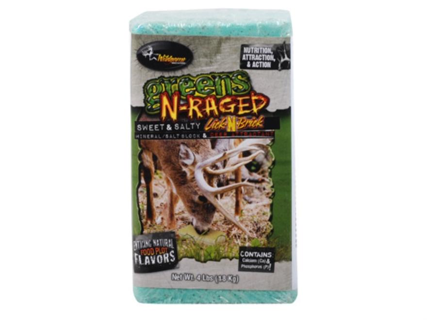 Wildgame Innovations Greens-N-Raged Deer Supplement Block 4 lb