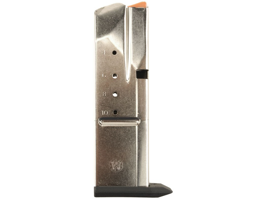 Smith & Wesson Magazine S&W SW40C, SW40E, SW40F, SW40V, 357 Sig, 40 S&W 10-Round Stainless Steel