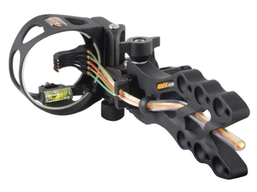 "Apex Gear Game Changer 5 Light 5-Pin Bow Sight .019"" Diameter Pins Aluminum Black"