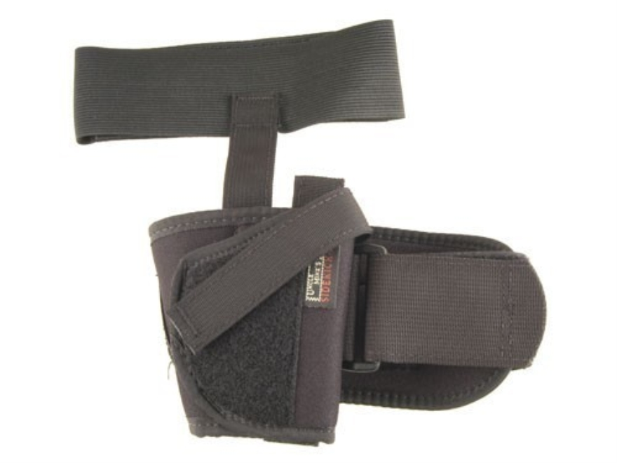 Uncle Mike's Ankle Holster Small Frame Semi-Automatic 22 to 25 Caliber Nylon Black