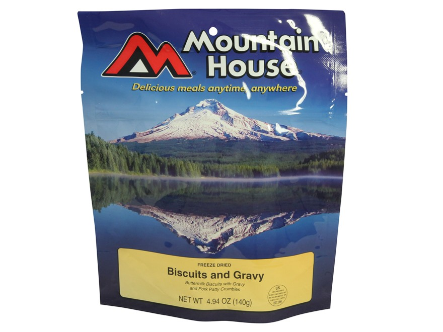 Mountain House Biscuits and Gravy Freeze Dried Food 2 Servings
