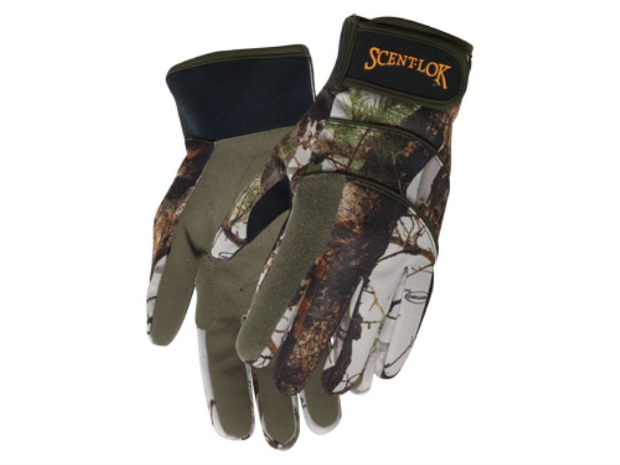 Scent-Lok Midweight Fleece Gloves Polyester Vertigo Gray Camo XL