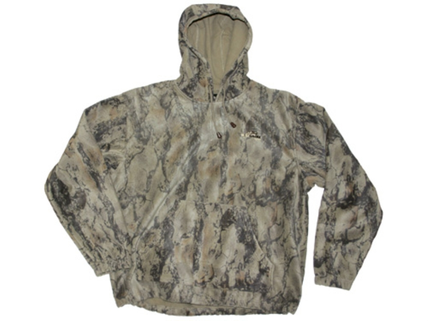 Natural Gear Men's Windproof Fleece Hooded Sweatshirt Polyester Natural Gear Natural Camo XL 45-49
