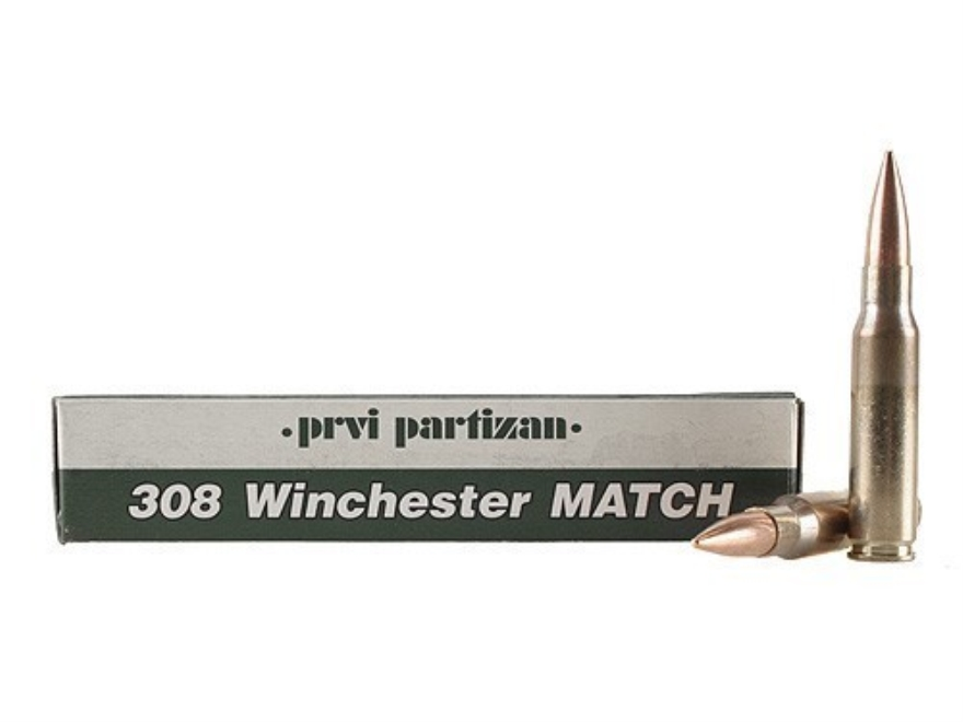 Prvi Partizan Match Ammunition 308 Winchester 175 Grain Full Metal Jacket