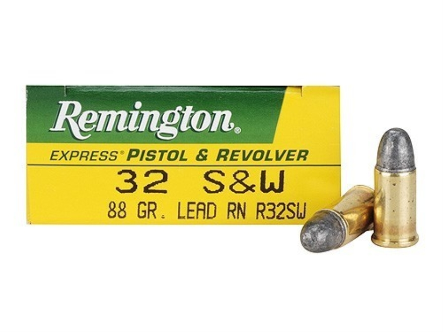 Remington Express Ammunition 32 S&W 88 Grain Lead Round Nose Box of 50