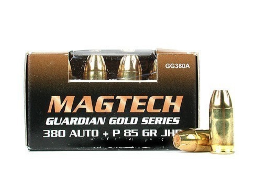 Magtech Guardian Gold Ammunition 380 ACP +P 85 Grain Jacketed Hollow Point