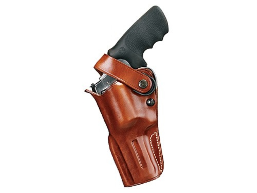 "Galco D.A.O. Dual Action Outdoorsman Belt Holster 4"" S&W K, L Frame, Ruger GP100, Security Six, Speed Six, Colt King Cobra, Python, Cobra Leather Tan"