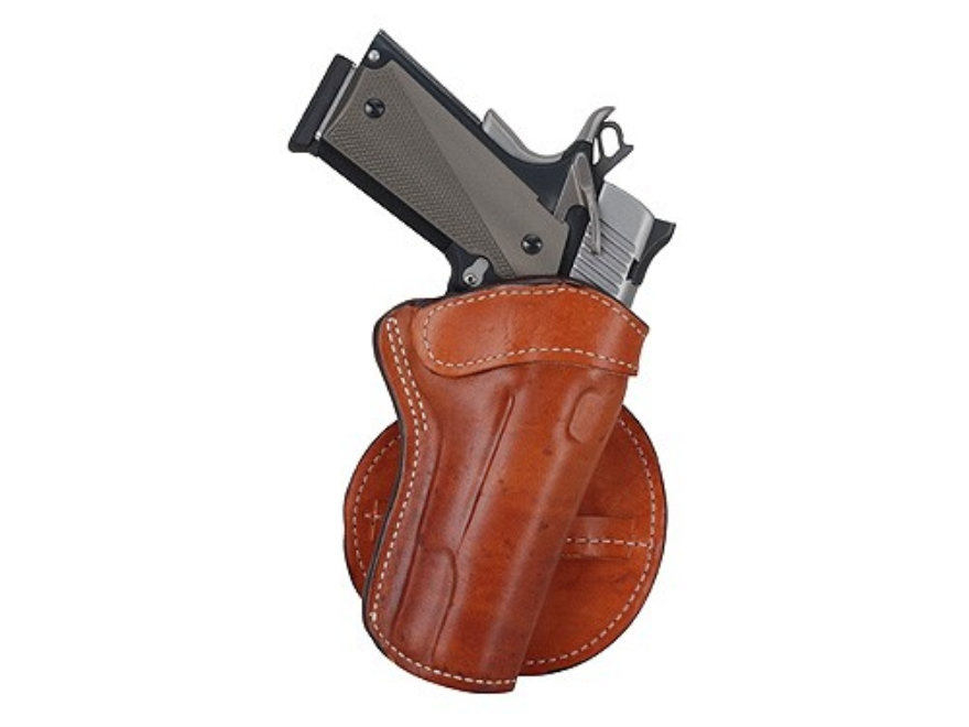 Ross Leather Paddle Holster Right Hand 1911 Government Leather Tan