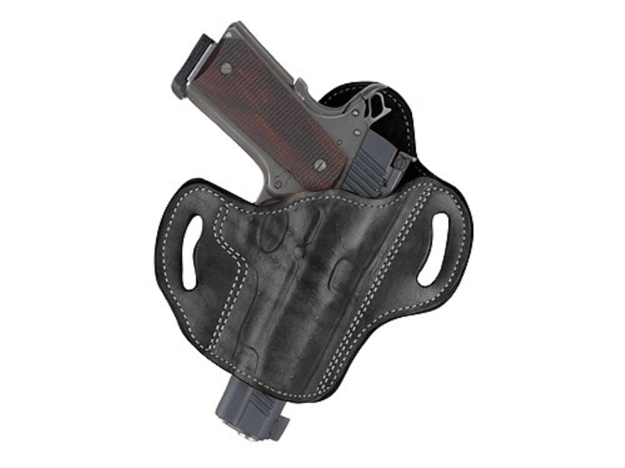 Ross Leather Pancake Belt Holster Right Hand Glock 26, 27, 33 Leather Black