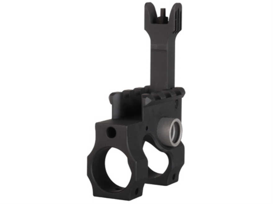 "Vltor VST Gas Block with Flip-Up Front Sight & Quick Detach Swivel Socket Taper Pin Mount AR-15, LR-308 Standard Barrel .750"" Inside Diameter Steel Black"