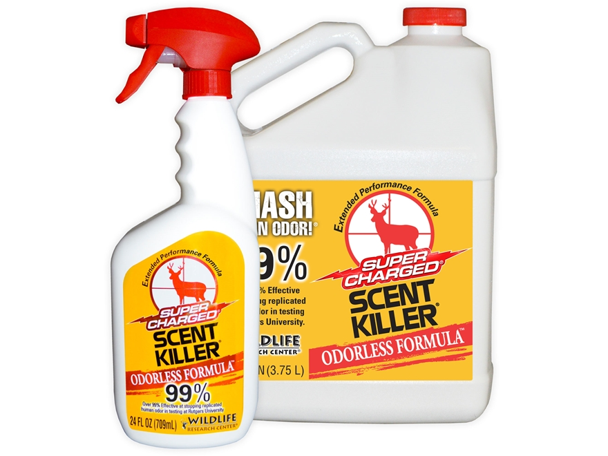Wildlife Research Center Scent Killer Combo Scent Elimination Bottle Liquid 1 Gallon an...