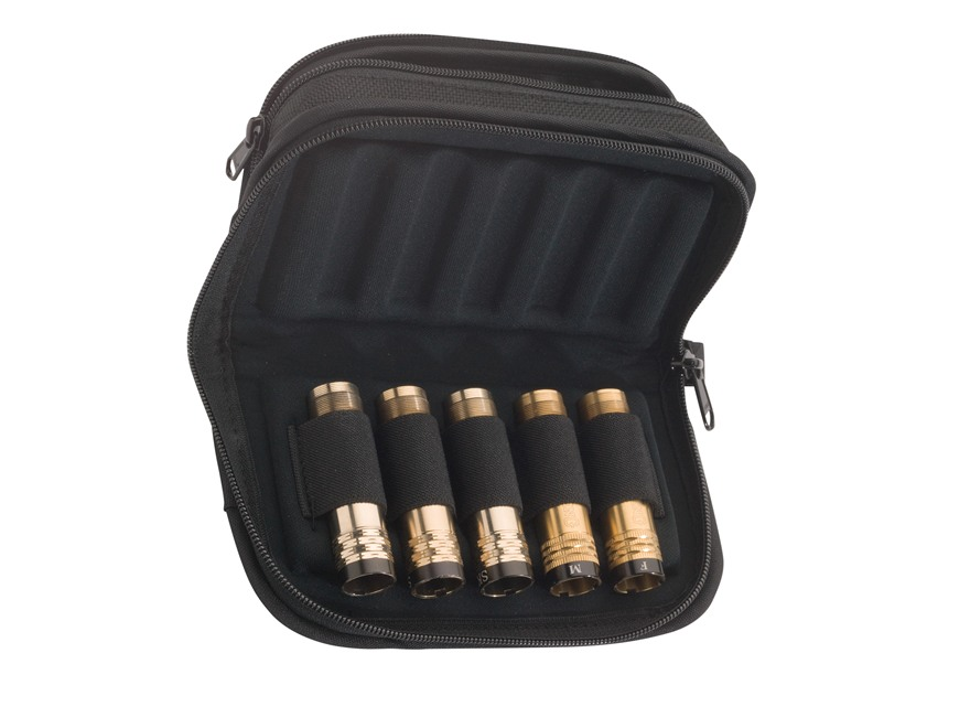 Browning Flex Foam Zippered Choke Tube Case 5 Extended Tubes Nylon Black