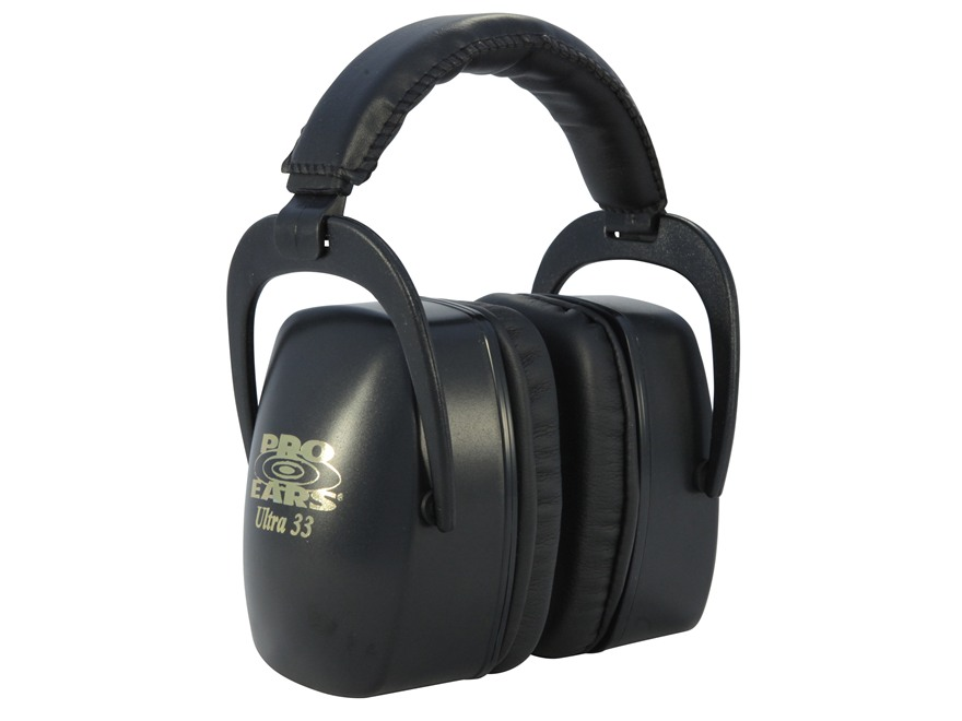 Pro Ears Ultra 33 Earmuffs (NRR 33 dB) Black