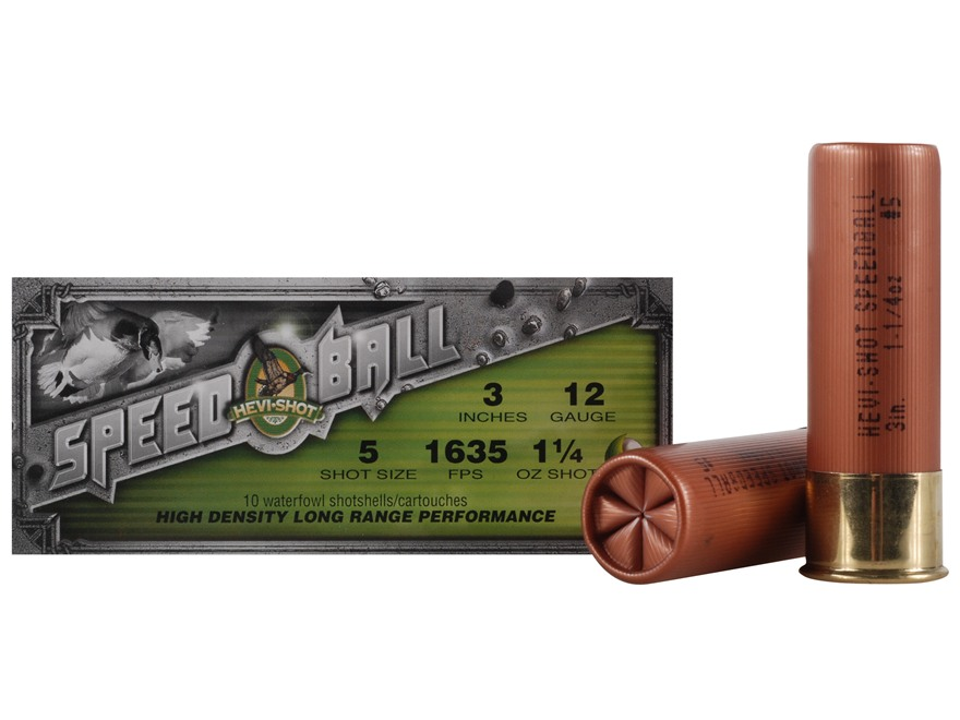 "Hevi-Shot Speedball Waterfowl Ammunition 12 Gauge 3"" 1-1/4 oz #5 Non-Toxic Shot"