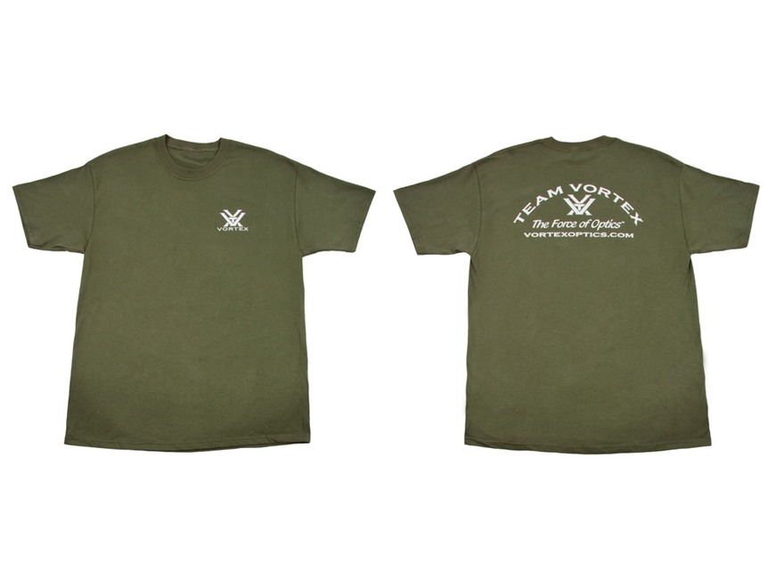 Vortex Team Vortex T-Shirt Short Sleeve Cotton Green