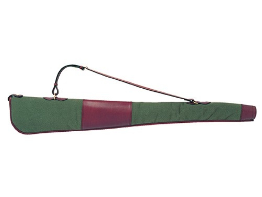 "Boyt Estancia Shotgun Gun Case 50"" Canvas and Leather Green"