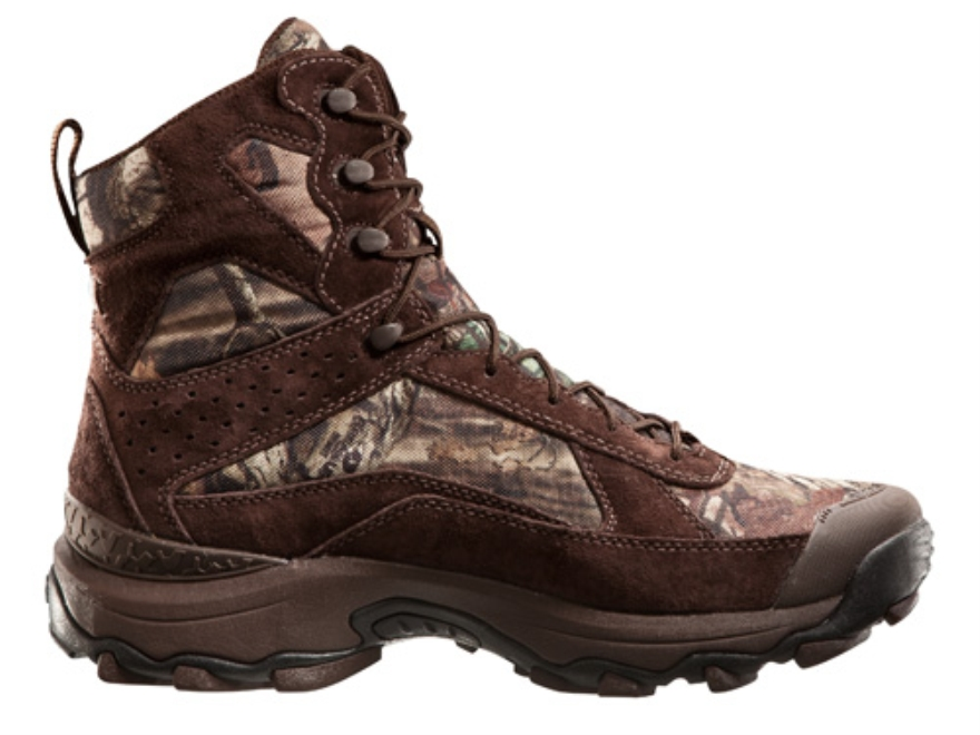 "Under Armour Speed Freek 7"" Waterproof Uninsulated Boots Leather and Nylon Mossy Oak Break-Up Infinity Camo Men's 10 D"