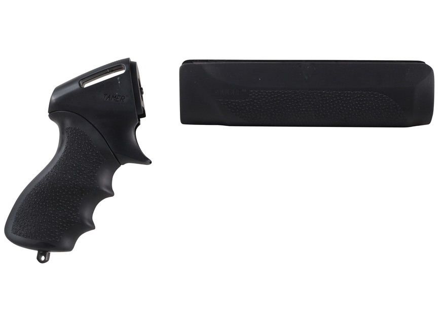 Hogue Rubber OverMolded Tamer Pistol Grip and Forend Remington 870 12 Gauge Synthetic Black
