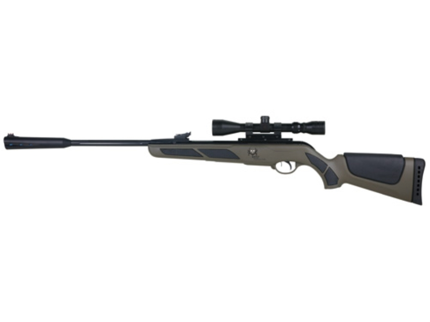 Gamo Bone Collector Air Rifle 22 Caliber Forest Green Synthetic Stock Blue Barrel with Scope 3-9x 40mm Matte
