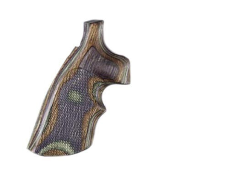Hogue Fancy Hardwood Grips with Top Finger Groove Taurus Medium and Large Frame Revolvers Round Butt Checkered