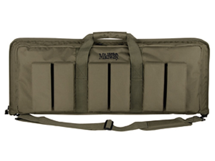 "MidwayUSA Pro Series Tactical Rifle Case 35"" PVC Coated Polyester Olive Drab"