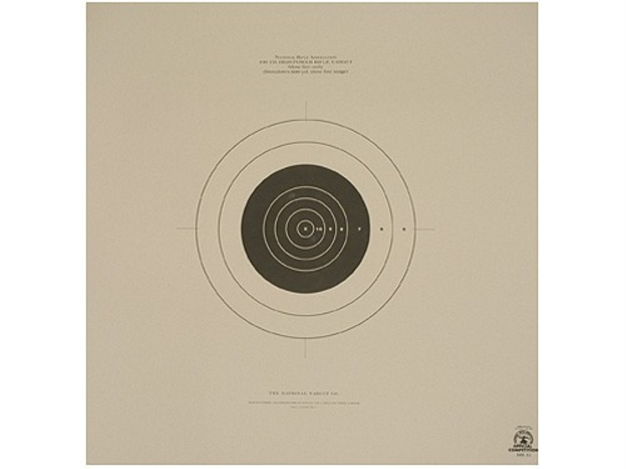 NRA Official High Power Rifle Targets MR-31 100 Yard Slow Fire Paper Pack of 100