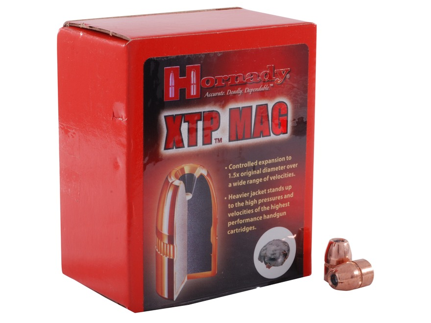 Hornady XTP Mag Bullets 45 Caliber (452 Diameter) 240 Grain Jacketed Hollow Point Magnum Box of 100