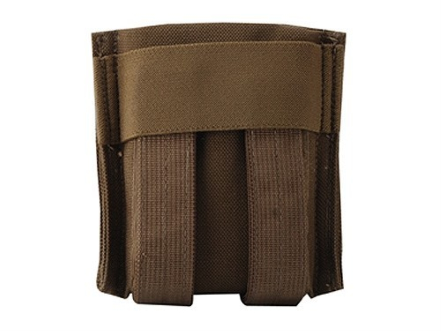 California Competition Works Double Magazine Pouch AR-15 30 Round MOLLE Compatible Nylon Coyote Brown