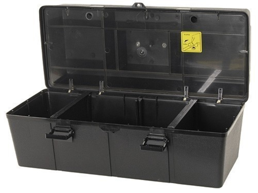 "MTM Shooter's Accessory Box 21"" x 9"" x 9-1/4"" Plastic Black"