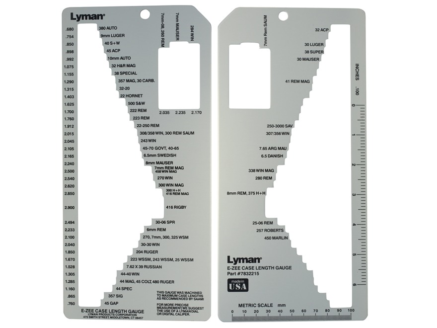 Lyman E-Zee Case Length Gage II
