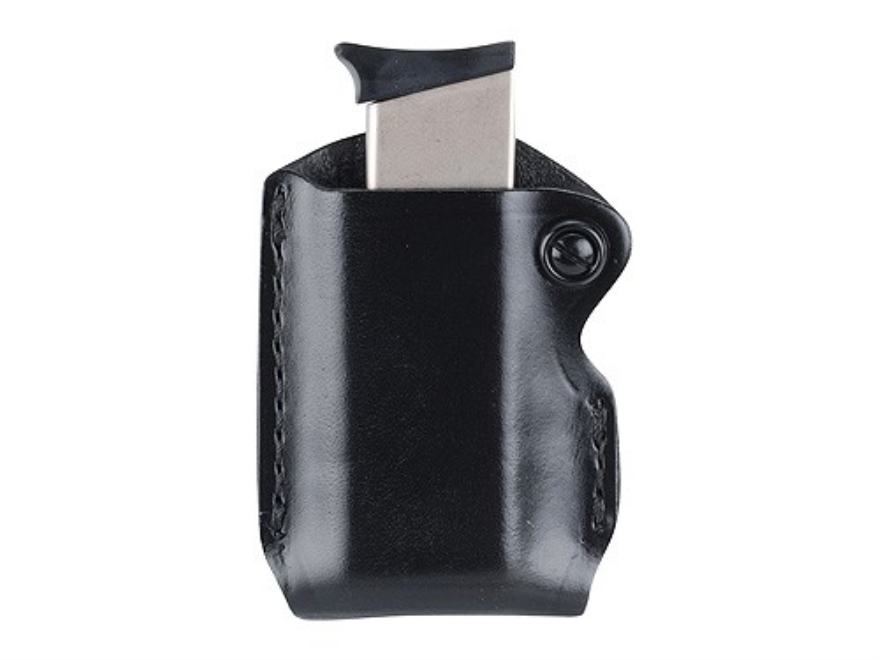 Gould & Goodrich B850 Belt Single Magazine Pouch 1911 Government, Kahr Micro MK9, Elite MK9, MK40, Covert 40, E9, K9, P9, K40, P40, Sig Sauer P230, P232, Walther PPK Leather Black
