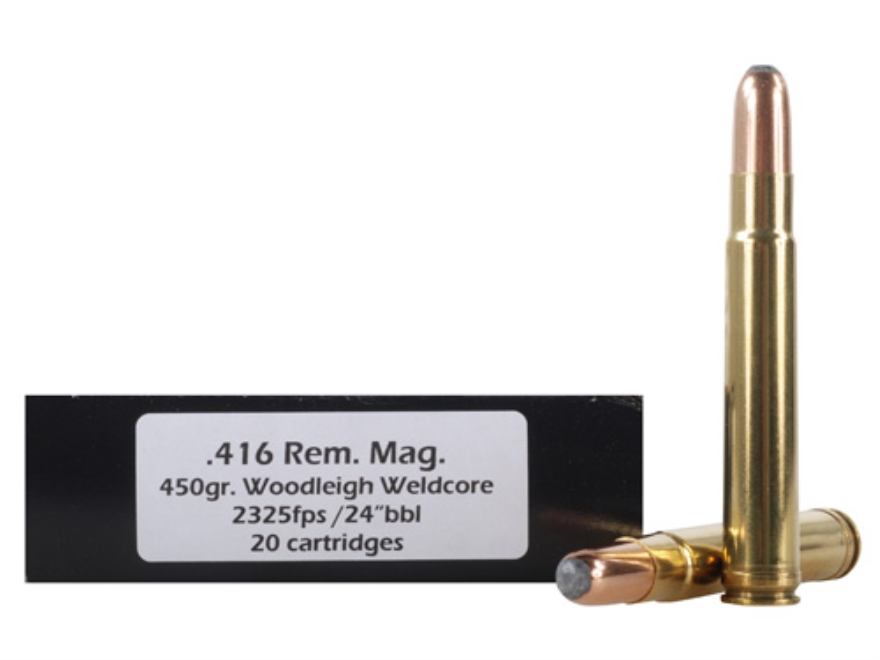 Doubletap Ammunition 416 Remington Magnum 450 Grain Woodleigh Weldcore Jacketed Soft Point Box of 20