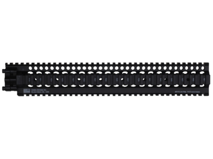 Daniel Defense Lite Rail 14.0 Free Float Tube Handguard Quad Rail AR-15 Extended Rifle Length Aluminum Black