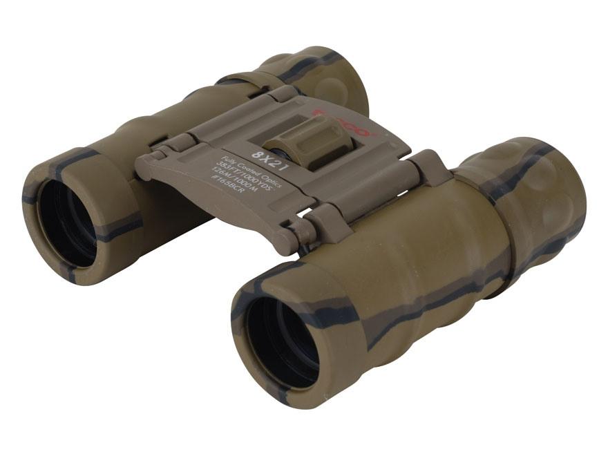 Tasco Binocular 8x 21mm Center Focus Roof Prism Rubber Armored Camo