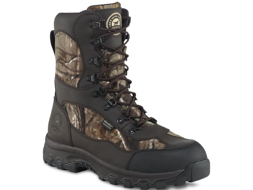 "Irish Setter Trail Phantom 9"" Waterproof 600 Gram Insulated Hunting Boots Leather and Nylon Realtree Xtra Camo Men's"