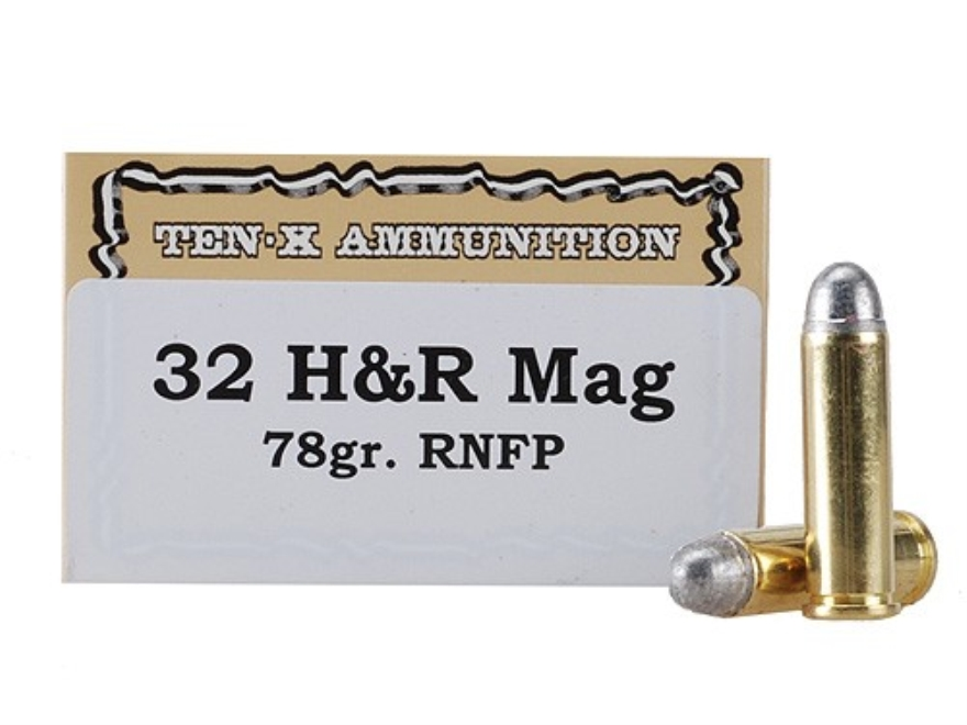 Ten-X Cowboy Ammunition 32 H&R Magnum 78 Grain Lead Round Nose Box of 50