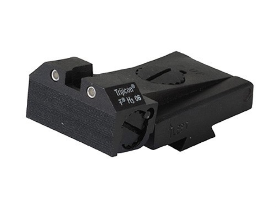 Kensight Adjustable Rear Night Sight 1911 Kimber Cut Steel Black Beveled Blade Serrated with Green Tritium Dots