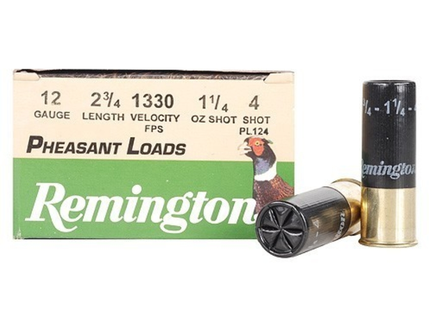 "Remington Pheasant Ammunition 12 Gauge 2-3/4"" 1-1/4 oz #4 Shot Box of 25"