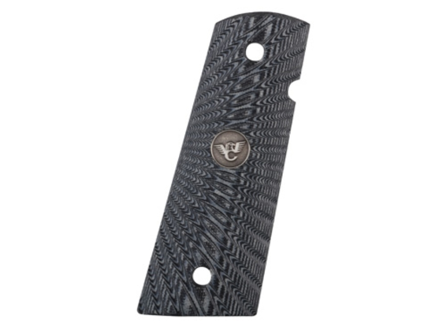Wilson Combat Grips 1911 Government, Commander Flat Bottom Starburst G10 Black and Gray
