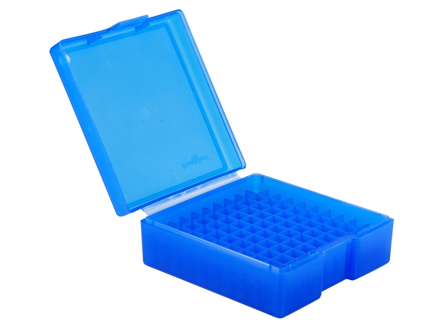 Frankford Arsenal Flip-Top Ammo Box #1003 38 Special, 357 Magnum 100-Round Plastic Blue Box of 10